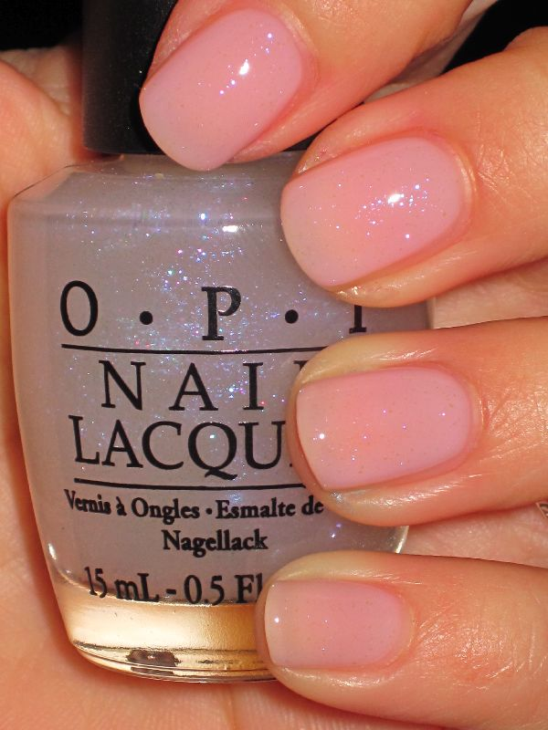 """""""I juggle . . . men"""" opi (just clear barely there sparkles..)"""
