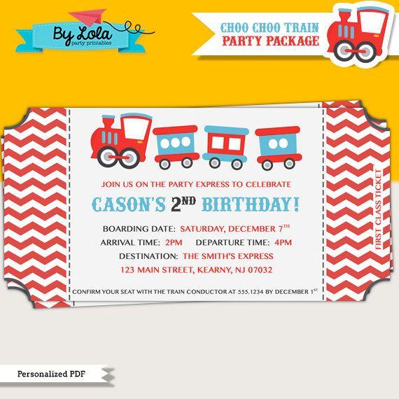 25 best Choo Choo Train Birthday Party Ideas images – Choo Choo Train Birthday Invitations