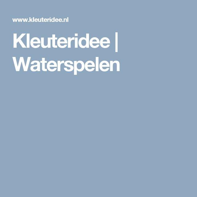 Kleuteridee | Waterspelen