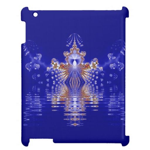 Crown Lake Blue Crystal Fractal Case For The iPad