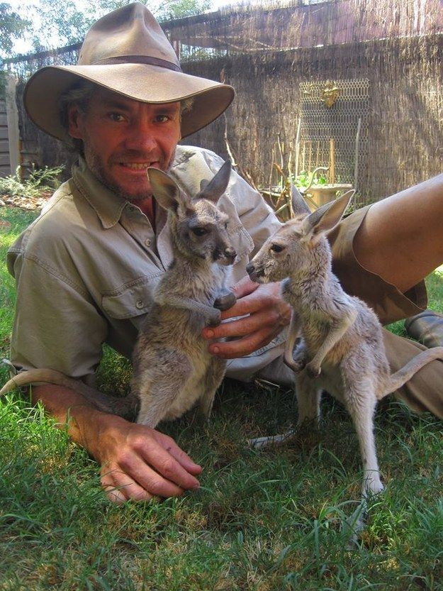 For hand rearing baby kangaroos orphaned in appalling circumstances…. | 29 Reasons This Aussie Bloke Is The World's Best Surrogate Mom...:)