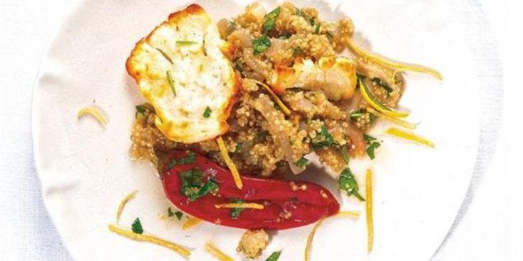 FOODSAVER  Κινόα σαλάτα ( Superfood ) με χαλούμι