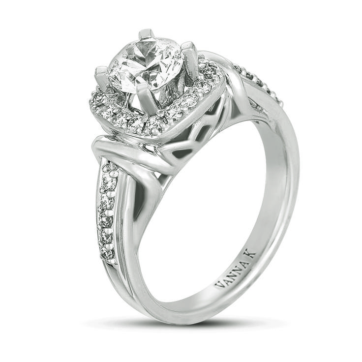 Vanna K Style No: 18R139DCZ    Diamonds: Round .33 CT (1 CT center stone not included )