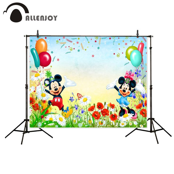 >> Click to Buy << Allenjoy vinyl backdrops for photography Party celebration balloon ribbon flower mouse sweet celebration photo background #Affiliate