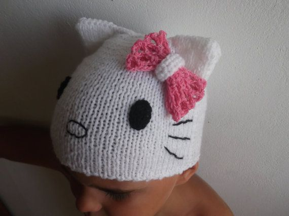 Knitting Pattern For Hello Kitty Hat : 17 Best images about Easy knitting and crocheting on Pinterest Dishcloth kn...
