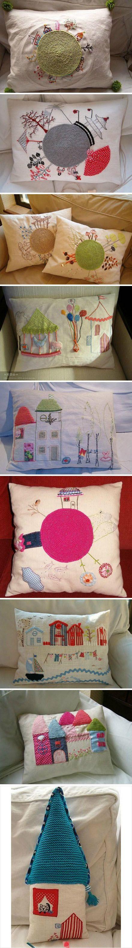 idéias lindas de bordado, crochê e aplicações