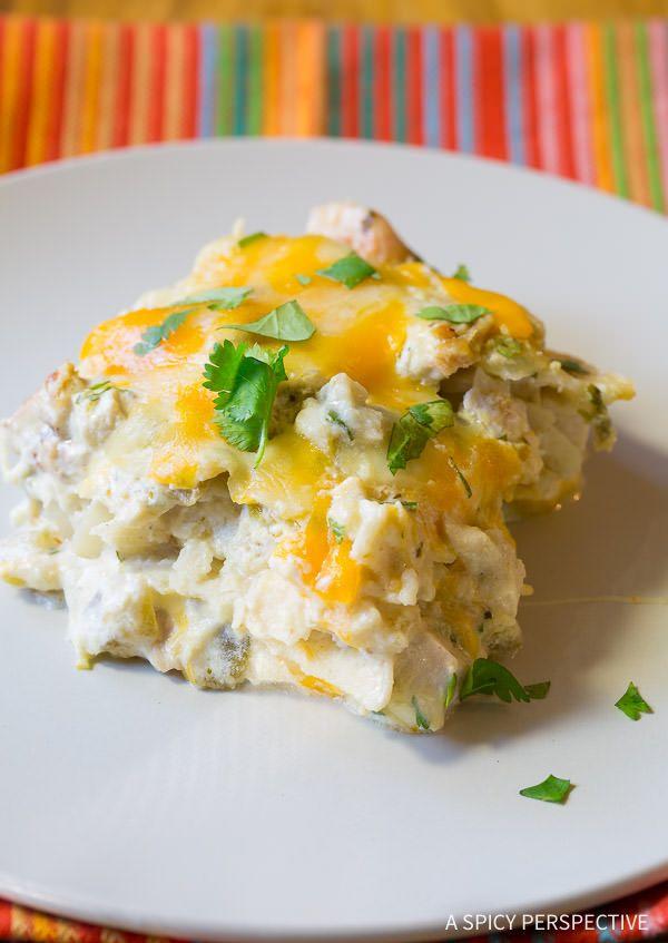 Ultra Creamy King Ranch Chicken Casserole Recipe | ASpicyPerspective.com