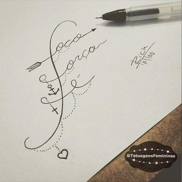 """13.2 mil curtidas, 676 comentários - Tatuagens • Tattoos  1,6m (@tatuagensfemininas) no Instagram: """"Foco,Força,Fé - Desenho para Tatuagem. Feita pelo Tatuador: ✒️ @Rick_tattooscp  ℐnspiração 〰…"""""""