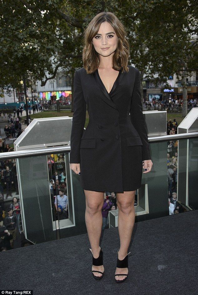 Jenna Coleman wows in tuxedo jacket at Doctor Who premiere #dailymail