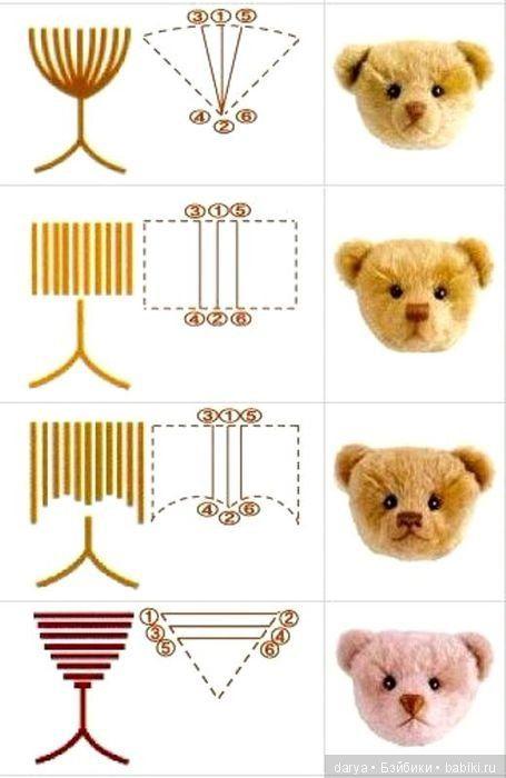 Как вышить нос и рот мишке тедди / Мастер класс по авторской игрушке / Бэйбики. Куклы фото. Одежда для кукол