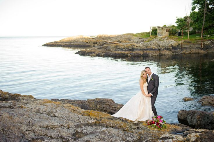 It's wedding season here at the Oak Bay Beach Hotel! Photo on the waterfront courtesy of Nichole Taylor Photography