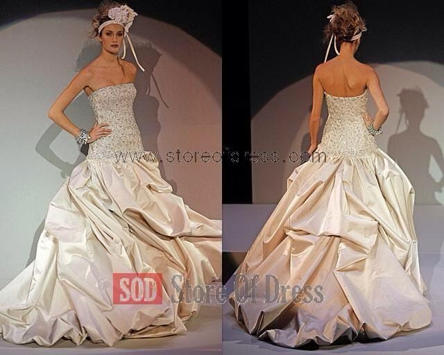 Designer Couture Kenneth Pool Wedding Gown *Kleinfeld Bridal*