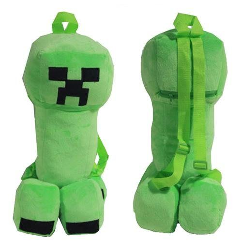 Xcoser Costumes Minecraft Bag Backpack Creeper Plush Toys Cosplay Accessories Easter Gift