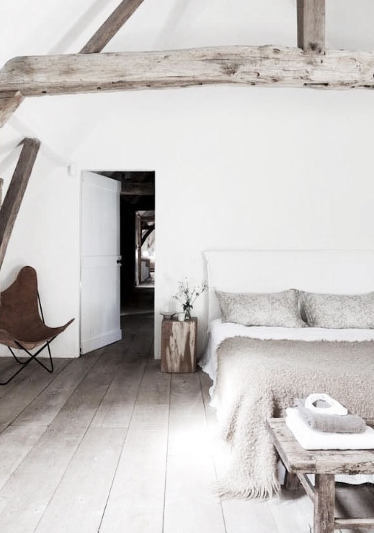 = beams and butterfly chair white bedroom. Looking for a similar throw? Try: http://www.naturalbedcompany.co.uk/shop/accessories/mohair-throws/