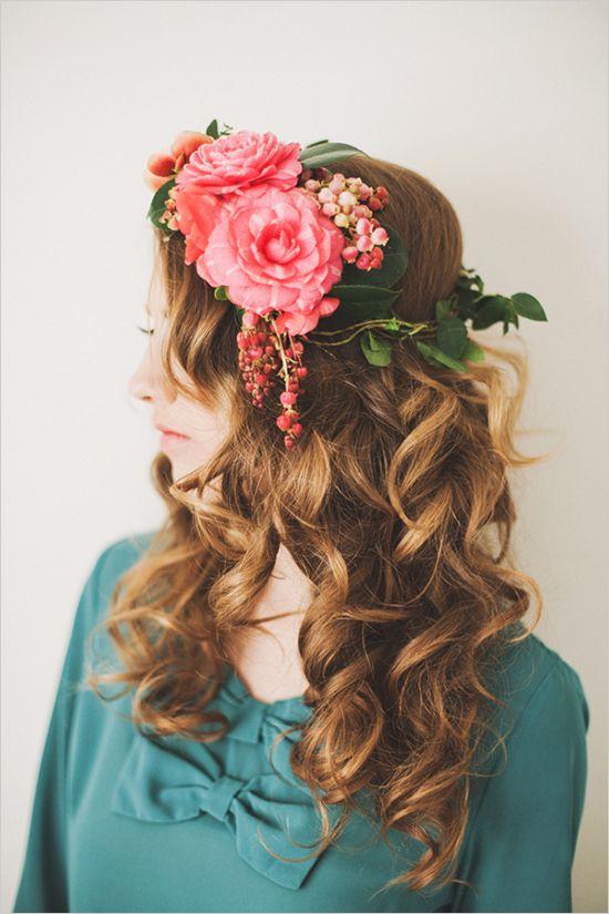 Floral Headdress~Image © Michelle Warren Photography