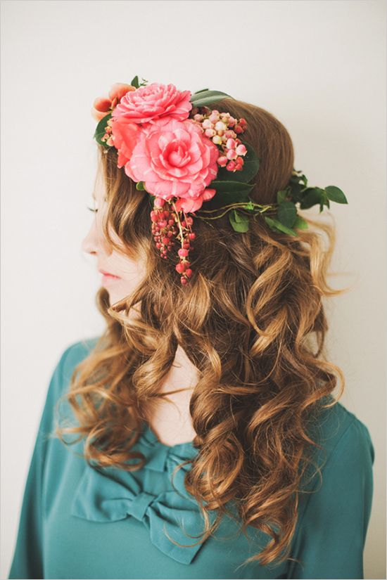 Floral Headdress~Image © Michelle Warren Photography