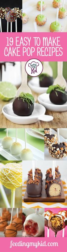 19 Easy to Make Cake Pop Recipes - From red velvet cheesecake pops to strawberry shortcake pops, these recipes are sure to please everyone. We have the perfect pop for even the pickiest of eaters. Some of the best recipes we have here feature fruits, which are always full of antioxidants and good for you and your kid.