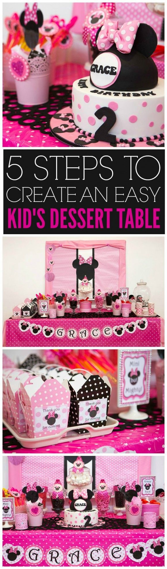 5 Steps to Create An Easy Child Dessert Table | CatchMyParty.com