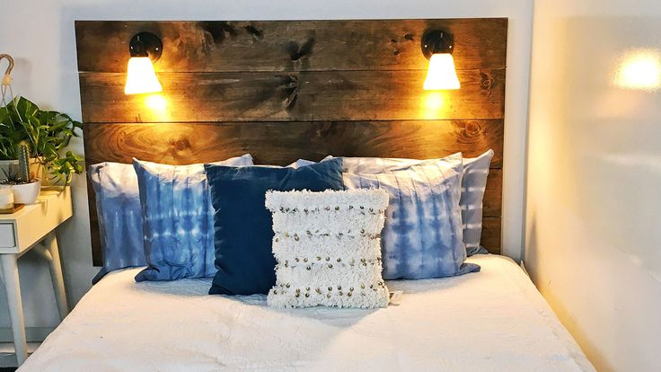 TODAY Home partnered with Nifty to show you how to make shibori bedding, a rope rug and a reading-lamp headboard, all on a budget.