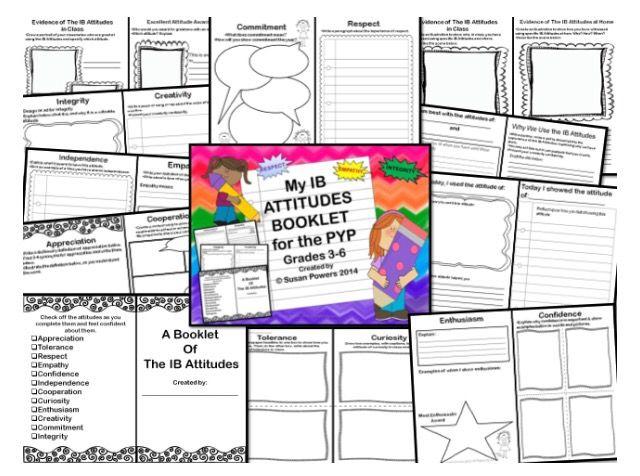 My IB Attitudes Interactive Booklet A Week Long Focus Activtiy #ibpyp #attitude #growthmindset #teacher