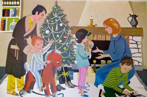 Affiche scolaire Noël vintage