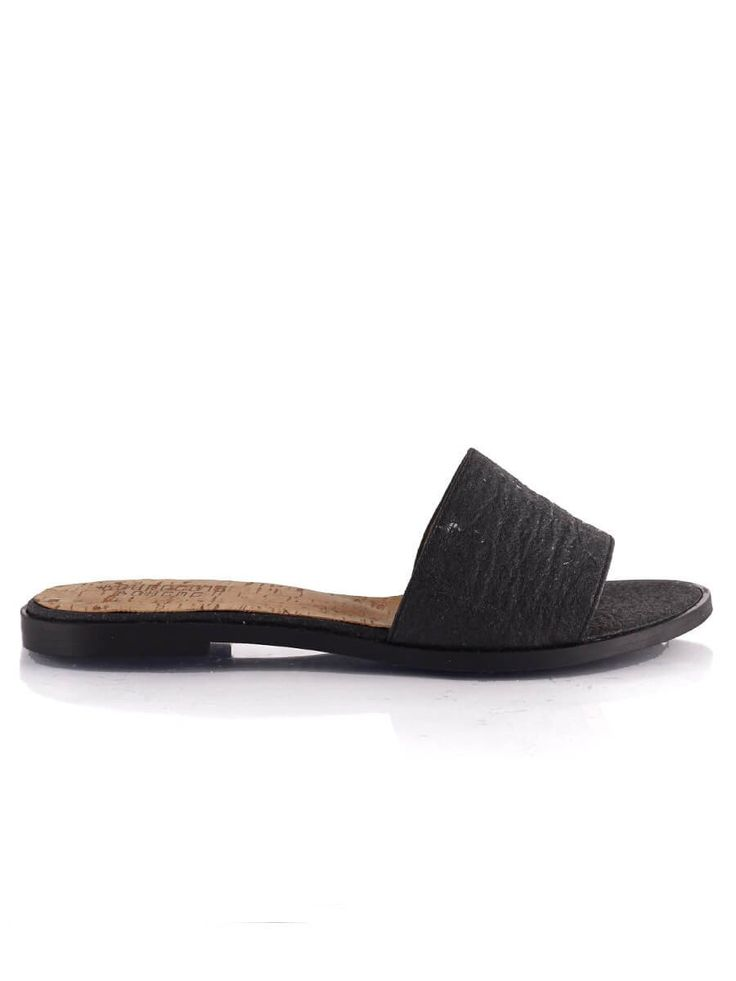 shop ethical sustainable & ethical clothing by Bourgeois Boheme Felicity Sandals: Pinatex Black| Portugal Artisan Handmade with Vegan Leather Shoes | Ethi