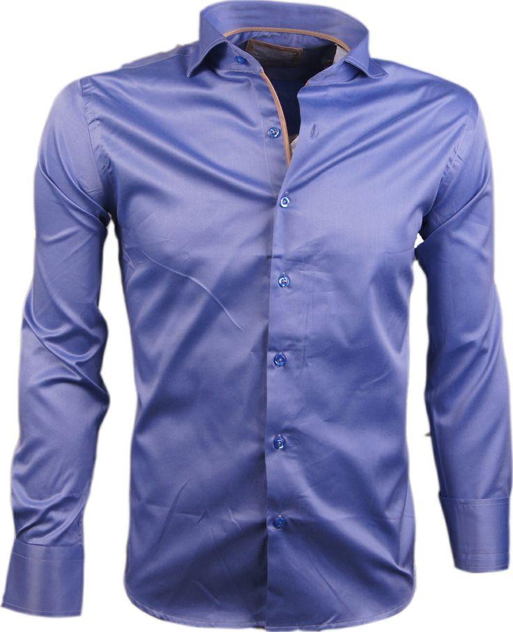 WAM DENIM heren overhemd blauw H2557