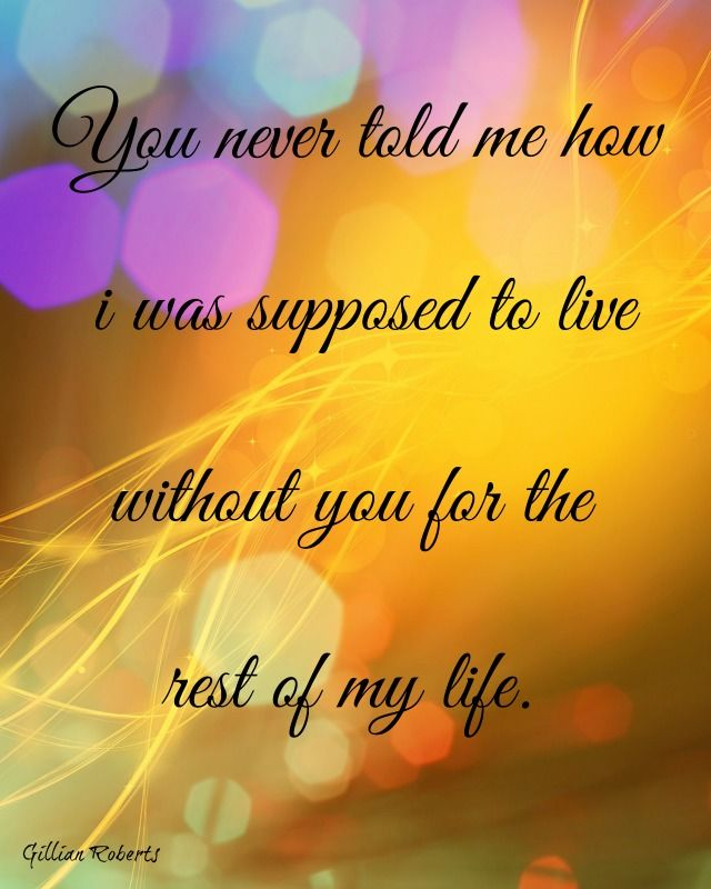 Please tell me...I'll never be truly happy again...there will always be a part of me missing...