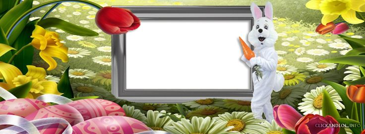 Easter Frame Facebook Cover PNG