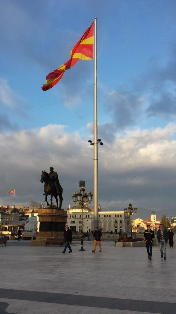 An enormous flag in Skopje. Skopje easily lives up to its name of the Kitsch capital of Europe! Check out the full article for more great photos.