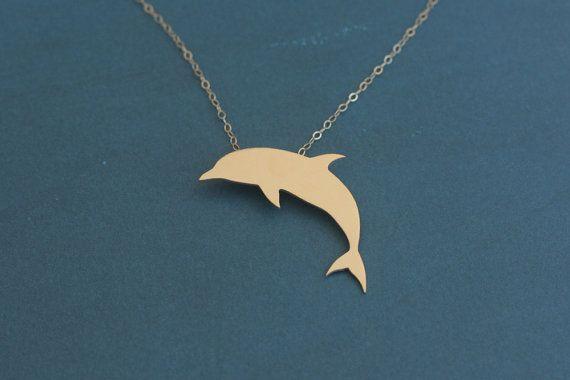 Delfino gioielli collana ciondolo collana d'oro di di meytalbarnoy