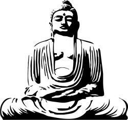 buddha great statue sticker by fantastick wall art #fantastick #onyourwall #wallart #sticker #home #deco