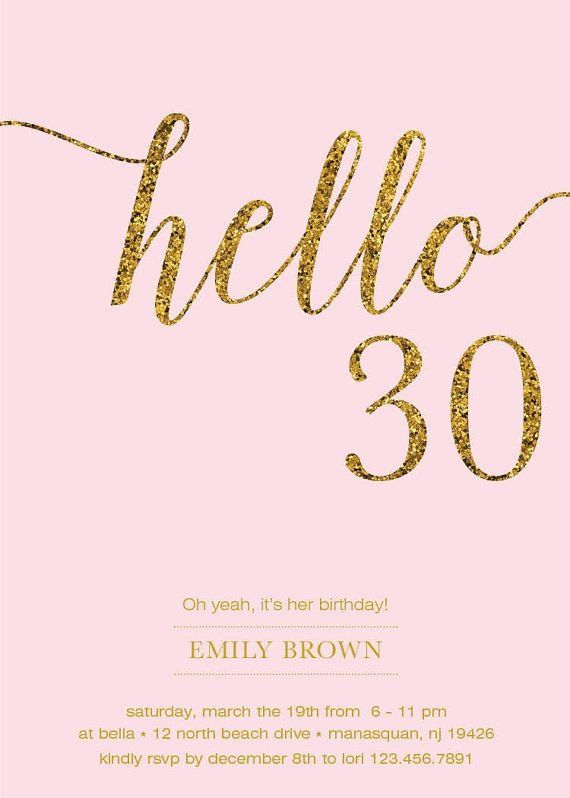 30th Birthday Invitations These Black And Gold 30th Birthday Invitations Are A Perfec 30th Birthday Invitations Thirty Birthday 30th Birthday Party Invitations