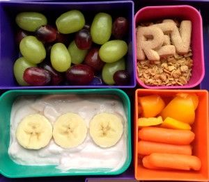 Yogurt Laptop Lunch - RachelsRandom.com #bento #vegetarian @Laptop Lunches