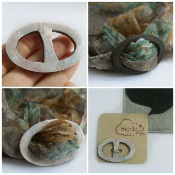 The perfect handmade addition to your new or vintage scarves.  Handmade scarf ring by mcclouddesigns, $25.00