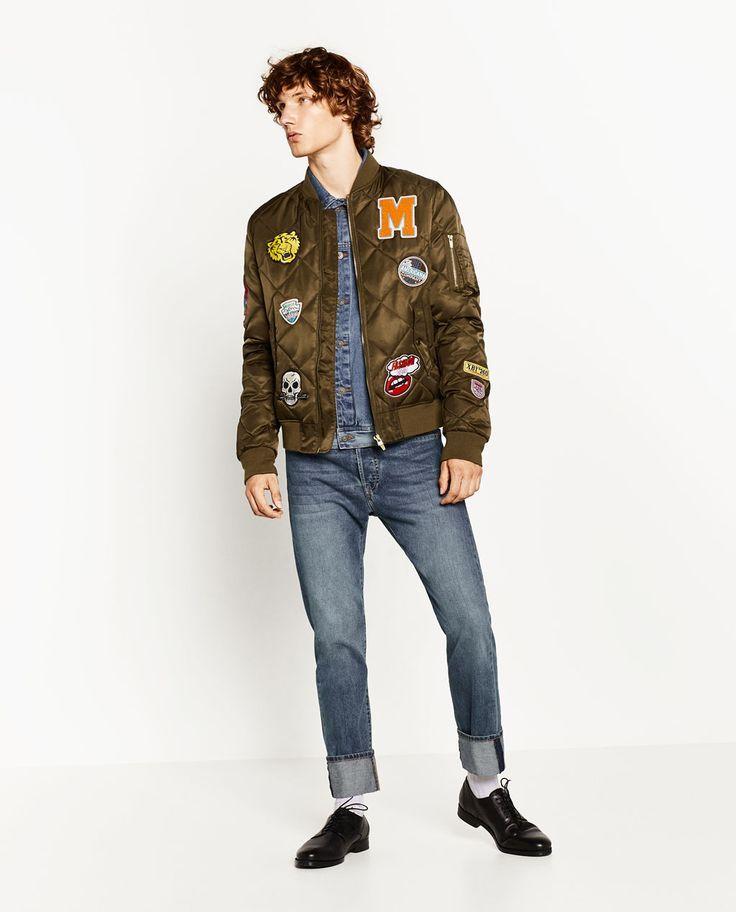 Bomber Acolchada Teaching Mens Fashion Bomber Jacket Men Mens Jackets