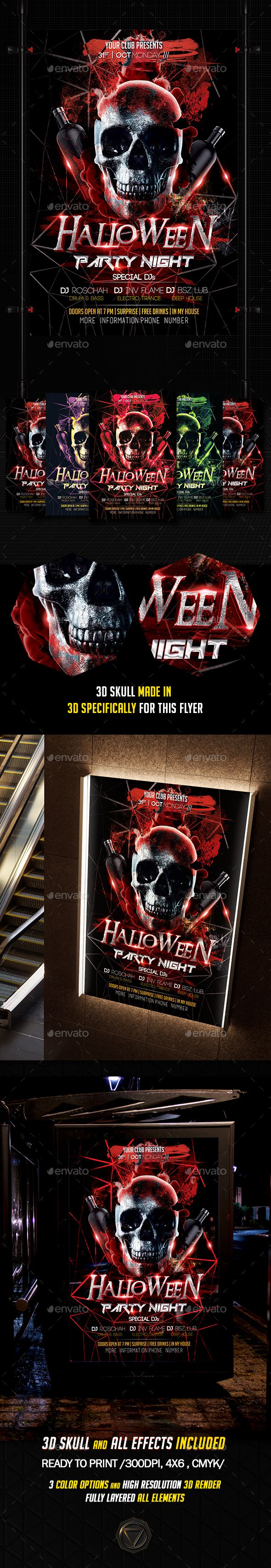 462 best Halloween Flyer Template images on Pinterest | Flyer ...