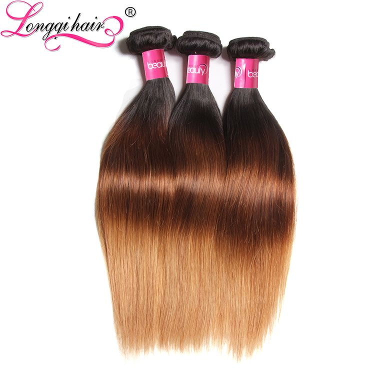 @cgoddessx 7A Ombre Human Hair Extensions T1B/4/27 Three Tone Ombre Brazilian Hair Straight 3pcs Virgin Blonde Brazilian Hair Weave Bundles-in Human Hair Extensions from Health & Beauty on Aliexpress.com | Alibaba Group