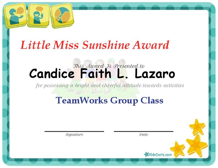 8 Best Certificate Images On Pinterest Babys, Infants And Award   Free  Printable Perfect Attendance  Free Printable Perfect Attendance Certificate