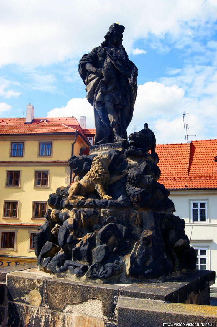 Святой Вит, раннехристианский римский мученик, покровитель Чешских земель, именем которого назван кафедральный собор в Пражском Граде (1714 год, Фердинанд Брокоф).