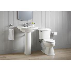 kohler elliston white watersense labeled elongated chair height 2piece toilet 12in rough