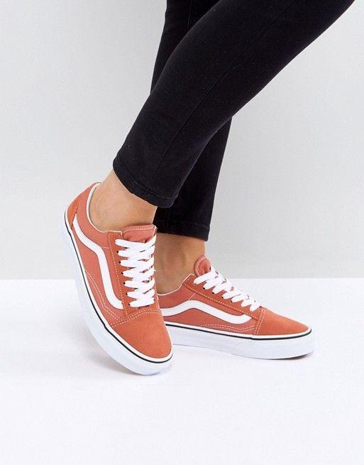 5143e9d1139 Vans Old Skool Unisex Sneakers In Orange in 2019 | KICKS | Shoes ...