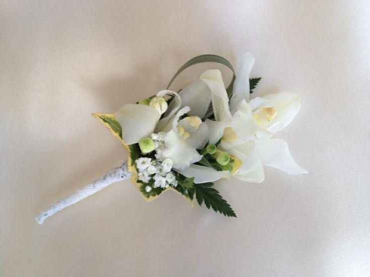 Ivory Orchid buttonhole. Chanan's Floral Events