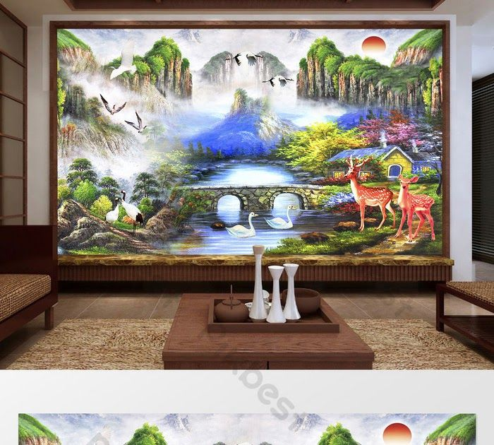20 Gambar Pemandangan Rusa Lukisan Pemandangan Cina Derek Putih Terbang Burung Rusa Download Rusa Hewan Landscape Pemandangan Fanta Lukisan Painting Rusa