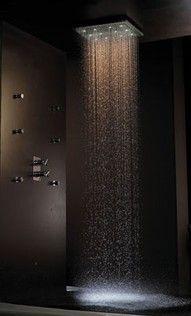 showerRainfall Shower, Rain Shower, Shower Heads, Showerhead, Waterfall Shower, Dreams House, Master Bath, Bathroom, Dreams Shower