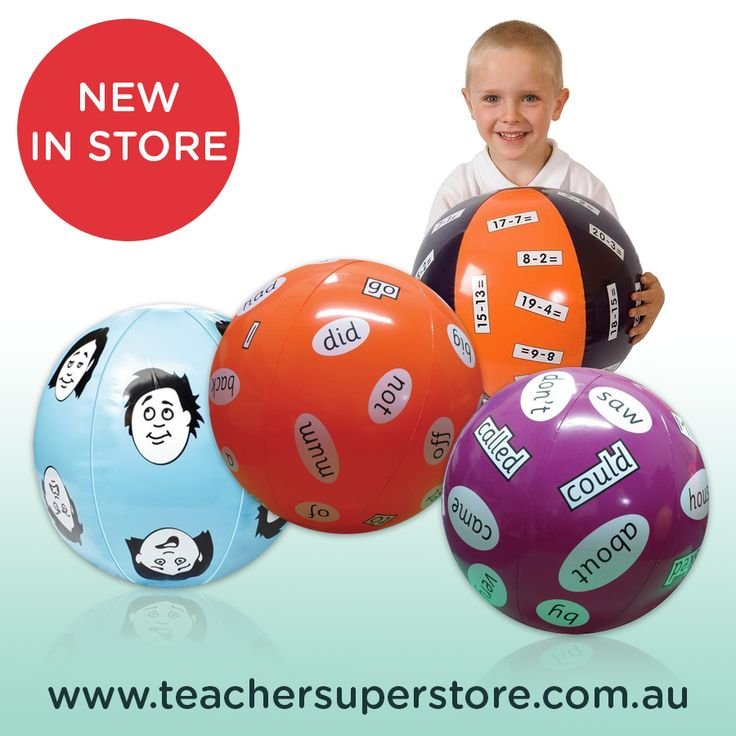 Literacy & Maths Balls. Use these inflatable teaching aids to make learning fun!