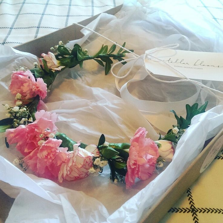 A sweet floral crown created for a flower girl #weddings