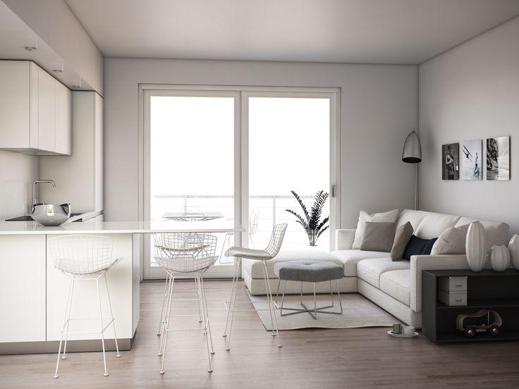 render build-design salotto cucina
