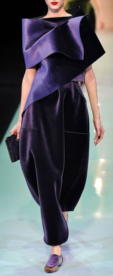 Emporio Armani - Collections Fall Winter 2013-14 - Milano  Aubergine. What a rich color.