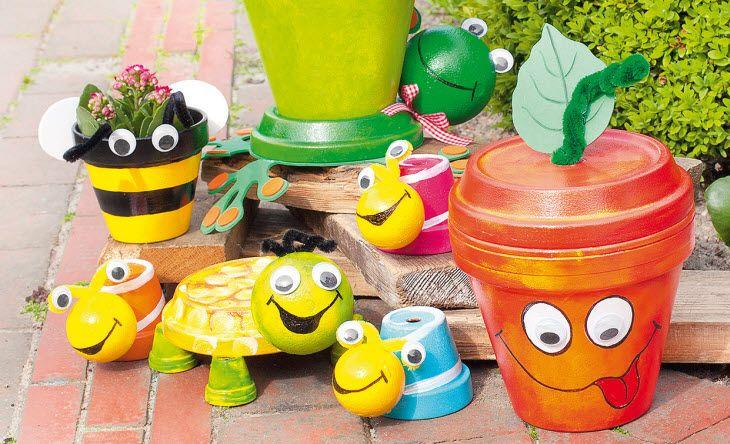 anleitung farbenfrohe terrakotta t pfe bastelshop und hobby vbs bastelbedarf mit kindern. Black Bedroom Furniture Sets. Home Design Ideas